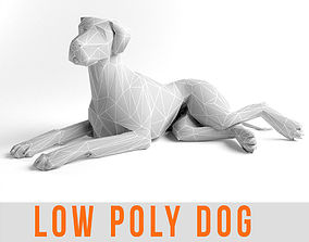 Low Poly Dog Great Dane Animal Lowpoly 3D model