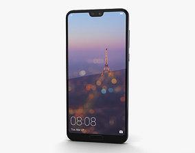 Huawei P20 Pro Twilight 3D model l09c