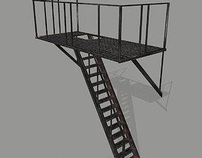 Fire Escape 3D asset game-ready