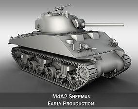 3D model M4A2 Sherman - Medium Tank