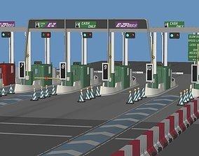 3D model Highway Toll-Gate