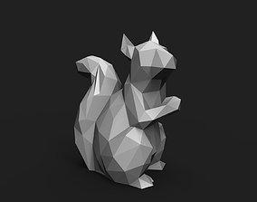 Squirrel Low Poly 3D print model