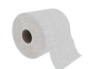 Toilet paper 3D asset