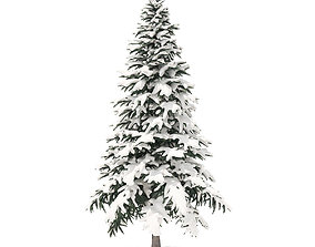 Spruce Tree with Snow 4point4m 3D