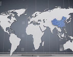 3D Cinema 4d World Map