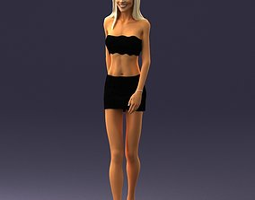 Model a woman in skirt and top 3D Print Ready
