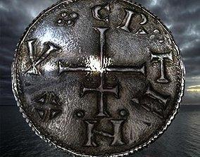 3D asset viking coin