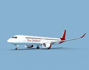 3D Airbus A220-300 Tour Northwest