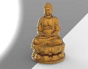 thailand buddha head 01 3D model