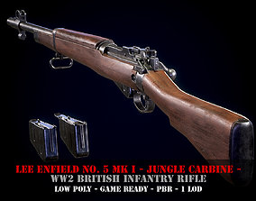 Lee Enfield No5 Mk I - WW2 British rifle - Game 3D model 1