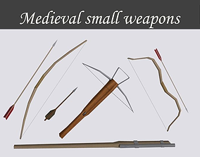 Medieval small weapons 3D model