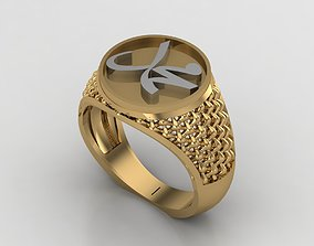 3D print model Mohammad Solitaire Gents Ring