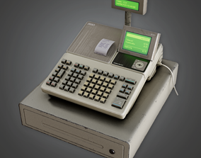 SAM - Commercial Cash Register - PBR Game Ready 3D asset