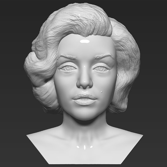 Marilyn Monroe bust for 3D printing