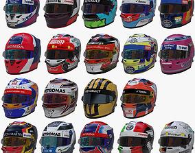 Helmets 2019 formula 1 3D model