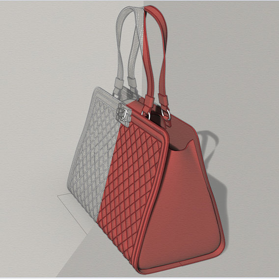 Chanel Shopping tote in red...