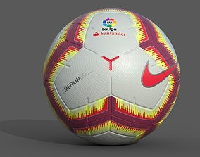 3D model LaLiga Official Match Ball 2018-2019