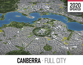 3D asset Canberra - city and surroundings
