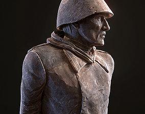 Soviet Soldier WW2 3D asset
