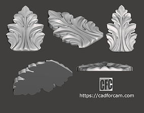 WoodCarving detail - 3d model for CNC - WoodCarvingCFC002