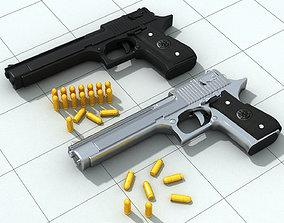 low-poly 3D pistolet print model