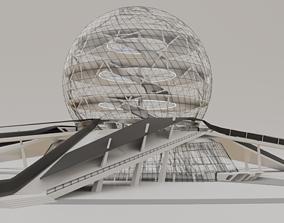 Futuristic Expo Center 3D model