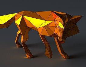 VR / AR ready Fox lowpoly 3D print model