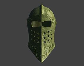 Warrior Medieval Helmet 3D print model