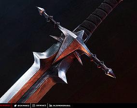 Nazgul Greatsword - fantasy PBR game ready 3d realtime
