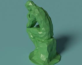 Polygonal Statue Thinker printable