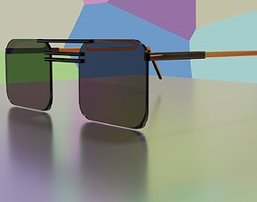 3d low-poly spectacles low-poly