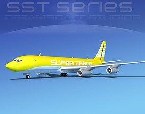 Boeing 707-320 SS Super Cargo 1 3D model