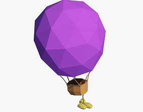 Cartoon air balloon 3D asset