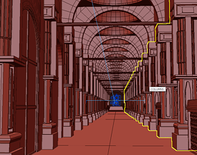 3D Colonial Type Hallway