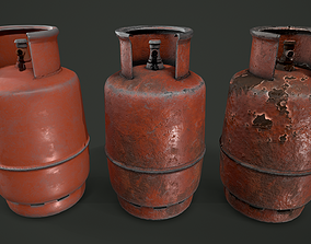 Gas Canister 3 Variations GameReady 3D asset