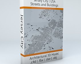 3D Jersey City Streets and Buildings
