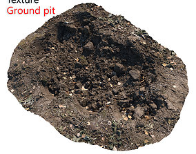 Ultra realistic Dirt pit Scan 3D model realtime