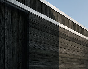 Burned wood wall cladding texture 3D