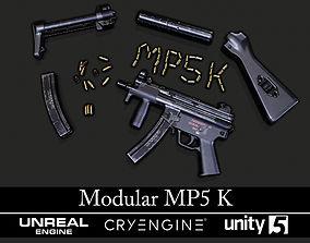 Modular MP5K - Textured - Game Ready 3D model