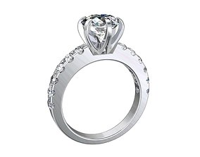 Engagement Solitaire Ring Model Separated Files- 1