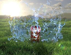 Water Splash 3D model animated