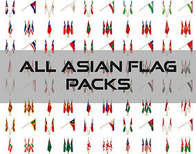All Asian Flag Packs 3D