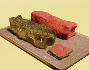 Golden Steak Meat 3D