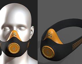 3D asset Gas mask respirator military combat scifi