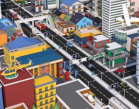 3D asset Low Poly City Pack 3