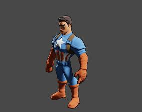 Captain America 3D animated VR / AR ready