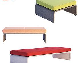 3D model Coalesse - Lagunitas Lounge System Bench
