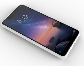 3D model Xiaomi Redmi Note 6 Pro white case