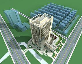 3D building Hotel Building