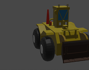 constraction car 3D asset game-ready